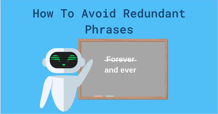 redundant phrases to avoid